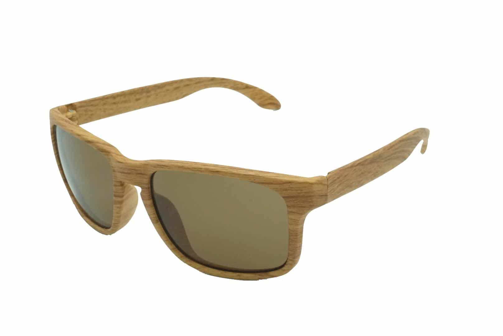 4Goodz Ibiza brown - houtlook wayfarer zonnebril - Bruin - Uv400