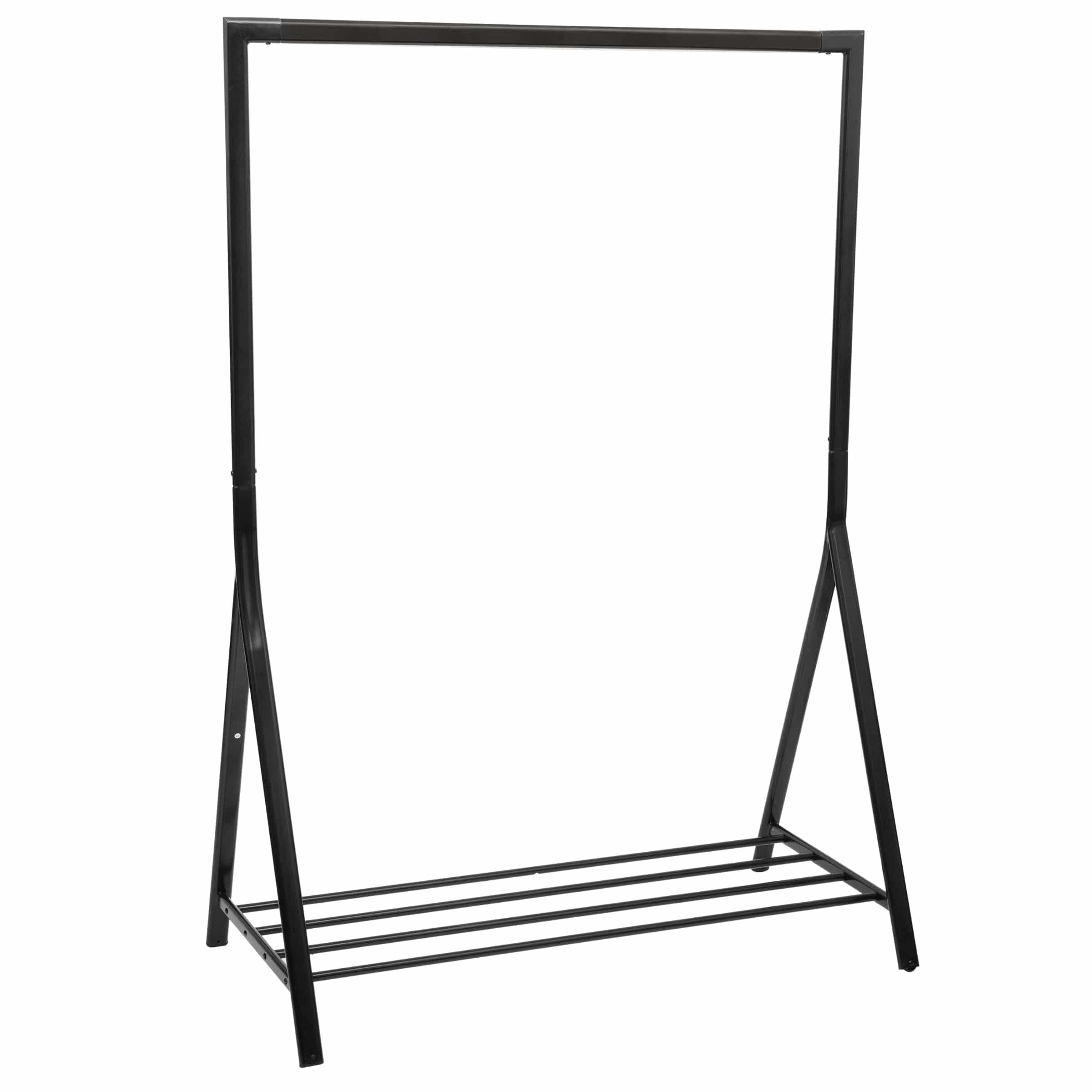 4goodz stevig metalen Kledingek 117x59x165cm - Zwart - industrieel