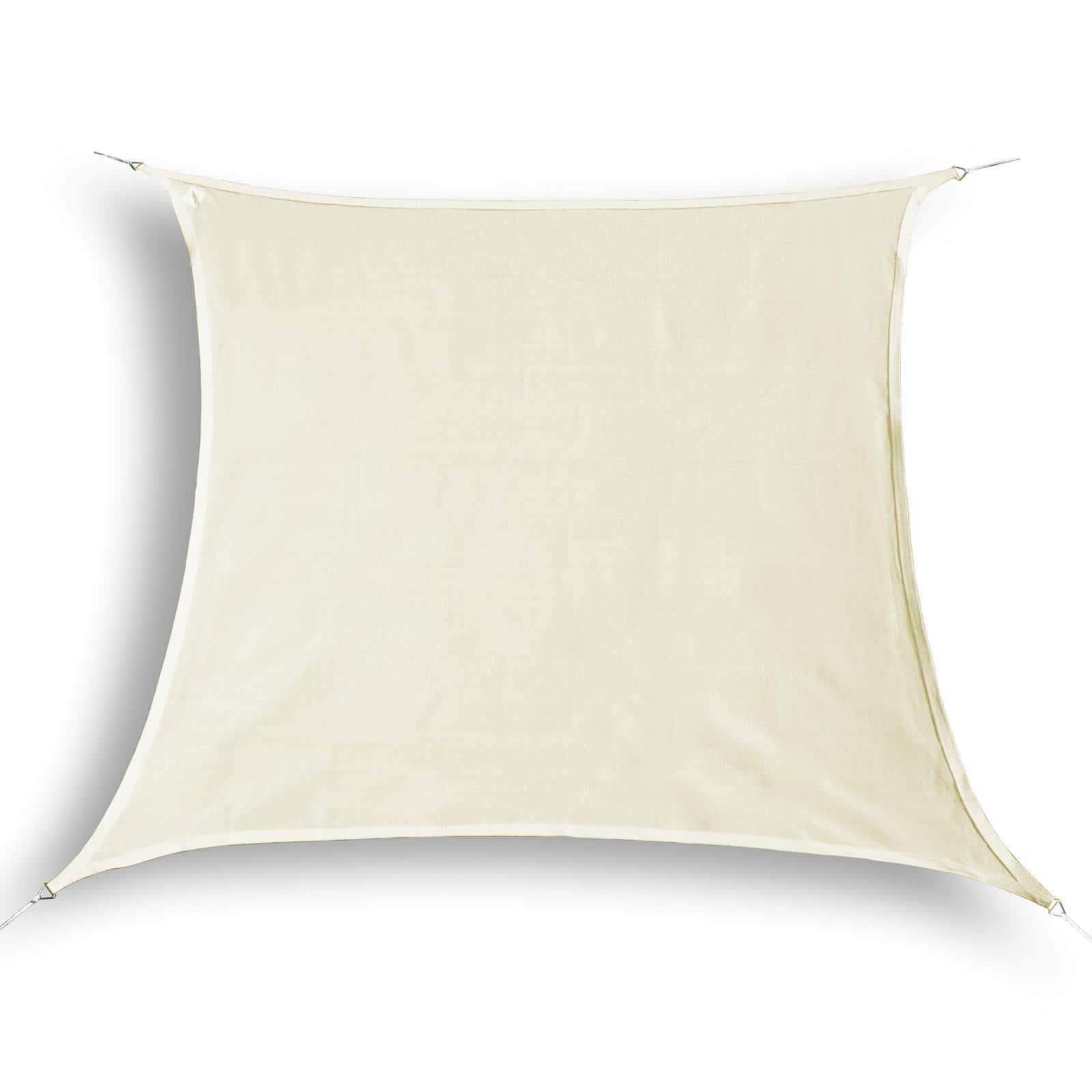 hanSe® Schaduwdoek Vierkant Waterdoorlatend 4x4 m - zonnedoek - Creme