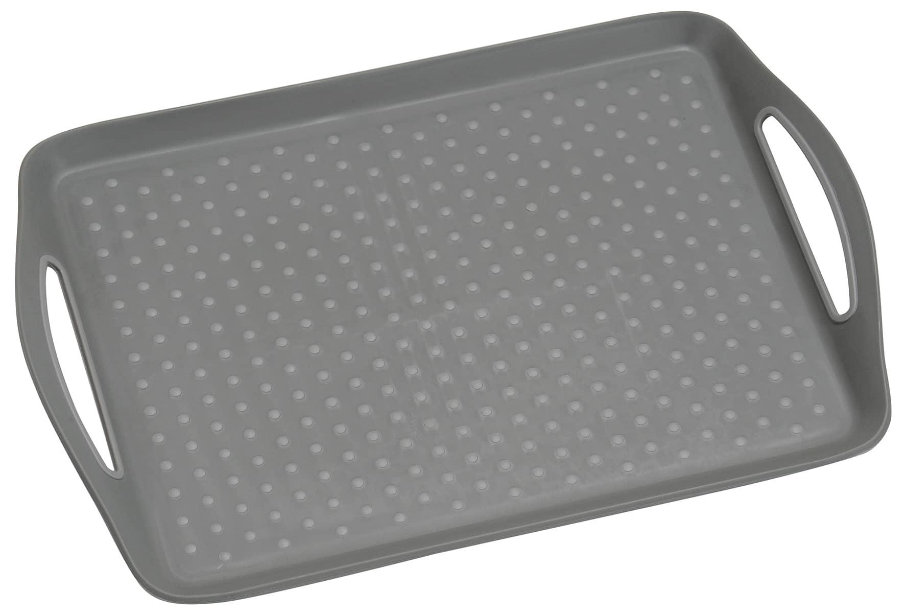 Anti-slip dienblad 45,5x32x4,5 cm - Dienblad Rechthoek - Grijs
