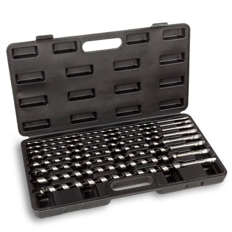 Hanse Werkzeuge 8-delige Slangenboorset XL voor hout 46 cm - in koffer