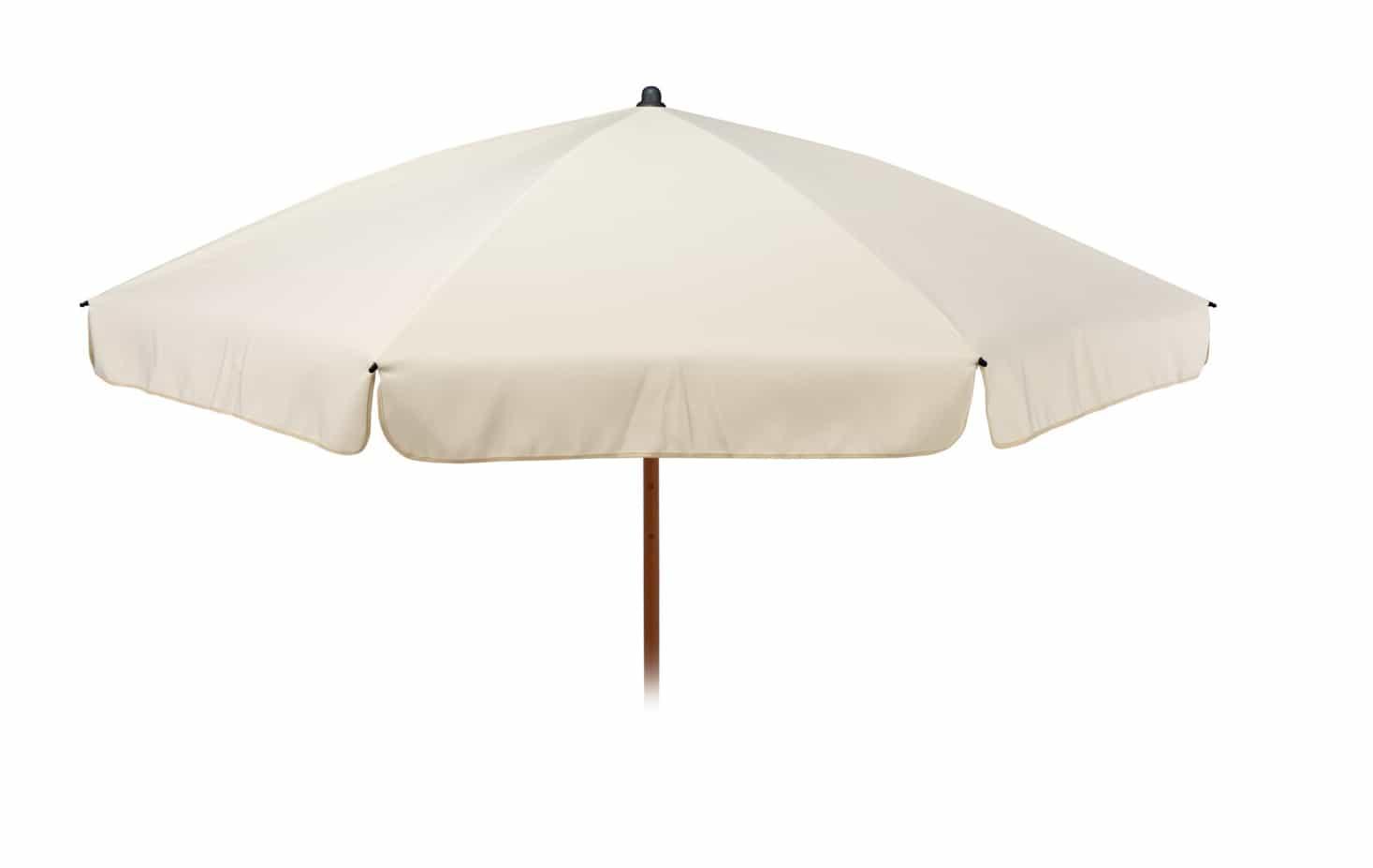 4Goodz Parasol 220 cm met Houtlook buis - Ecru