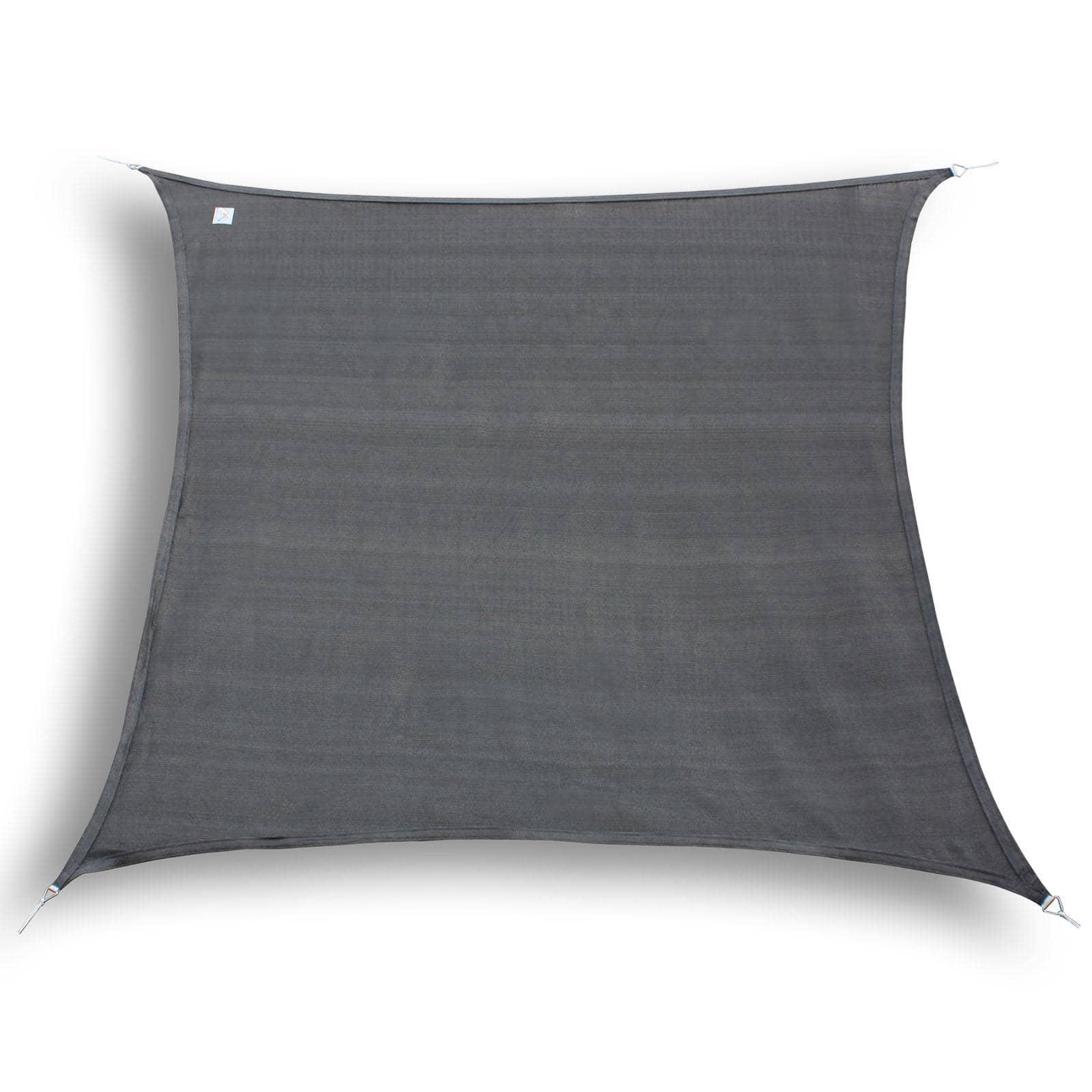 hanSe® Schaduwdoek Vierkant Waterdoorlatend 3x3 m - zonnedoek - Grijs