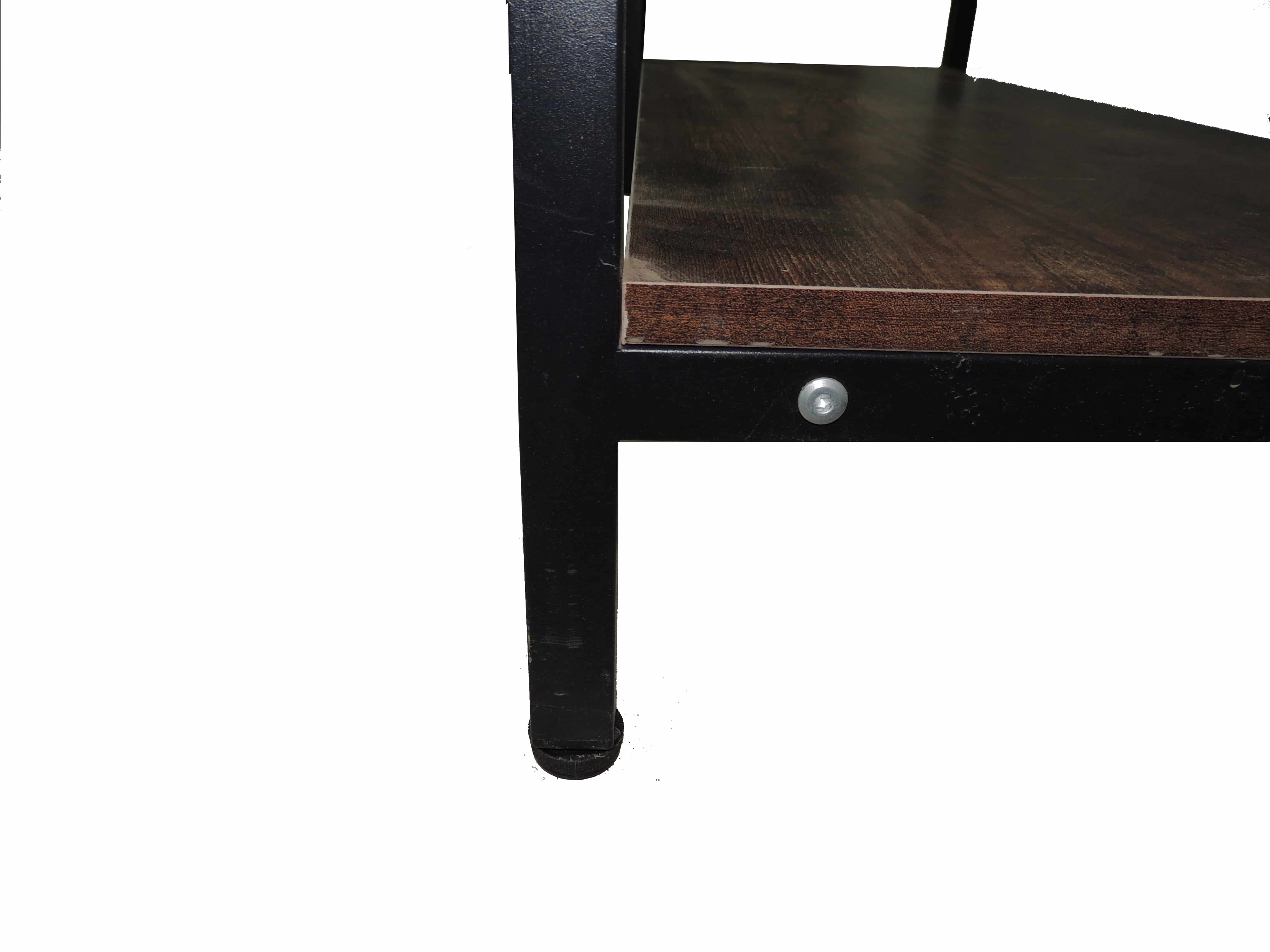 4livingz Retro Stevige Industriële Kapstok 42x100x183 cm - zwart/bruin