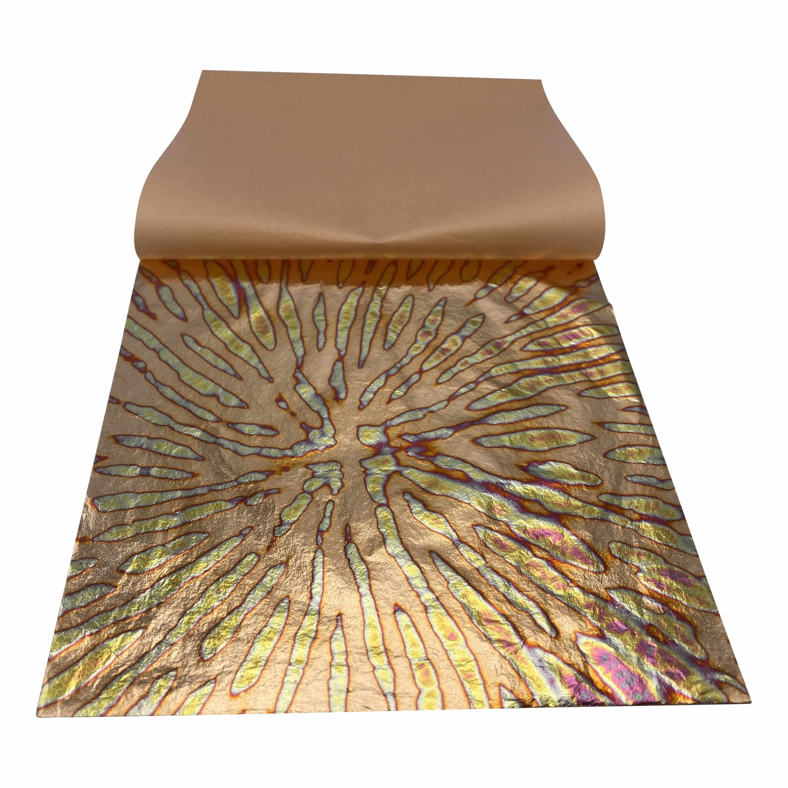 Mont Marte® 8 vellen imitatie Koper explosie papier 14x14cm - decoupage