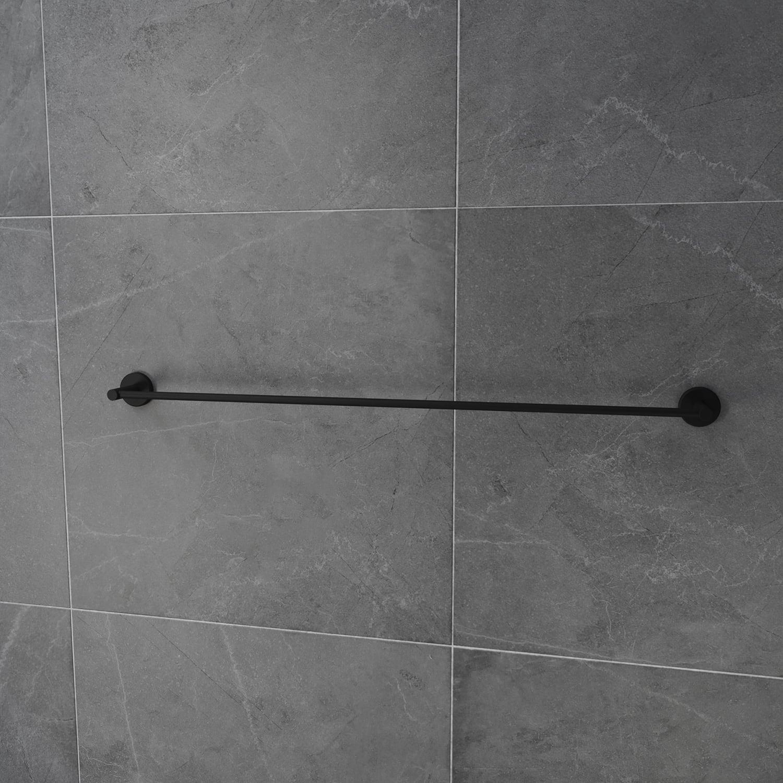 4bathroomz® Oslo wand handdoekhouder 80cm - Zwart