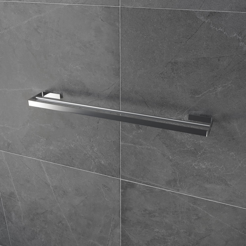 Luzzo® Piazzo Messing Dubbel wand Handdoekrek 60cm - chroom