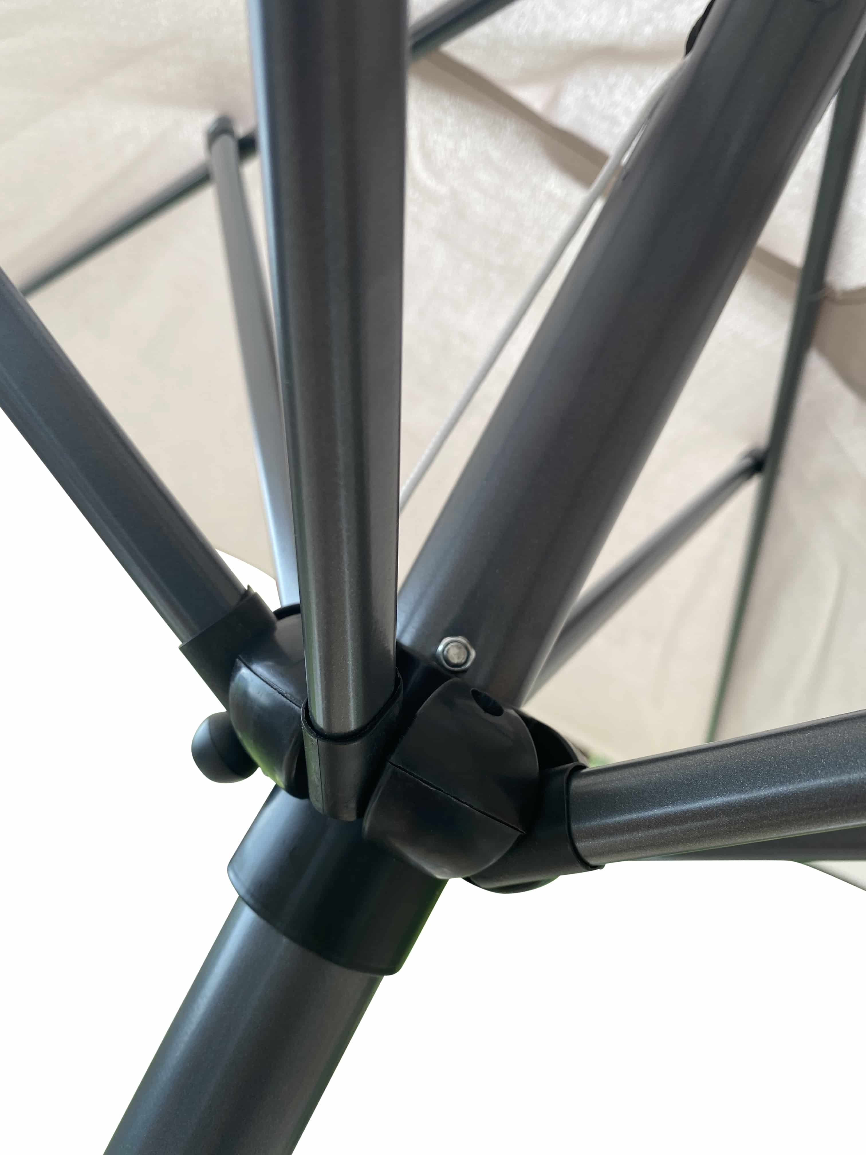 4Goodz balkonparasol 150X250CM met knikarm - Creme