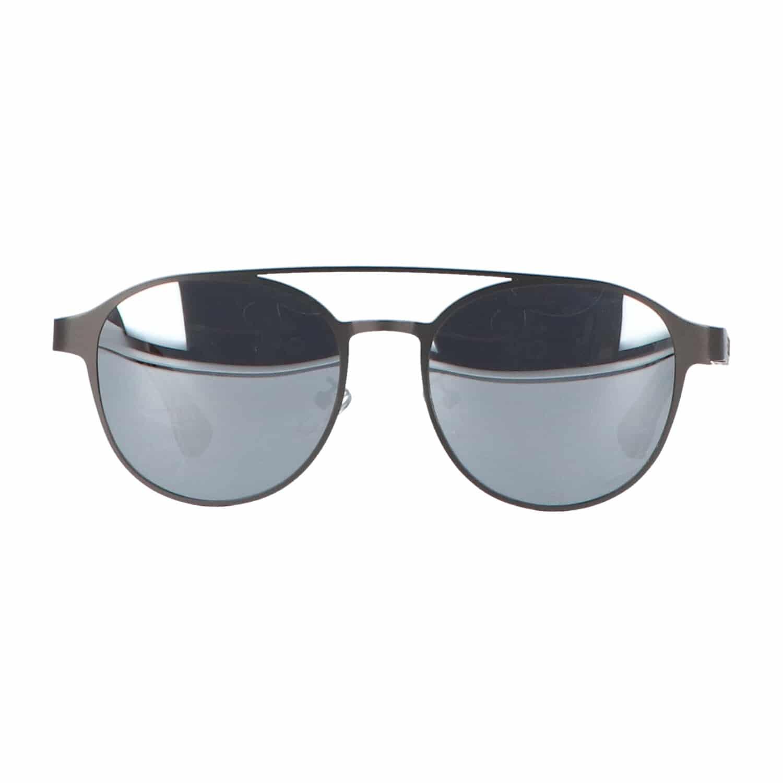 5one® Amalfi Clubmaster 2.0 - Zonnebril met houten poten - Gunmetal
