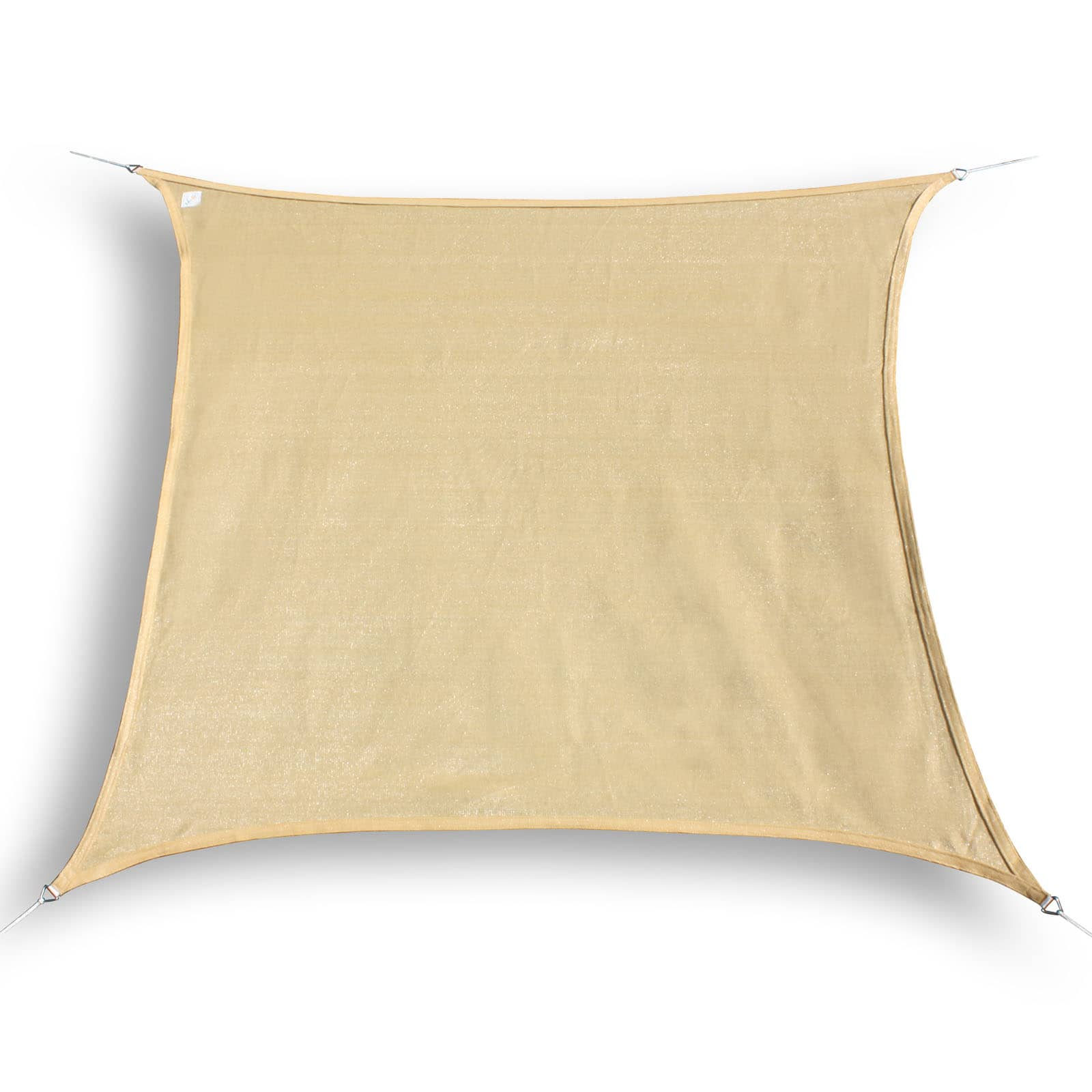 hanSe® Schaduwdoek Vierkant Waterdoorlatend 3,6x3,6 m - Zand