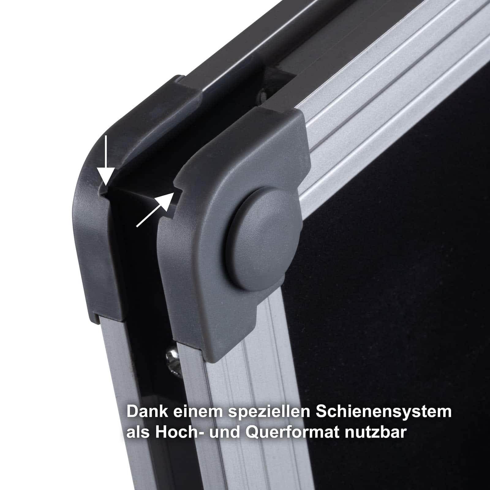 Büromi Magnetisch Zwart Krijtbord 80x60 cm Alu frame - incl. toehoren