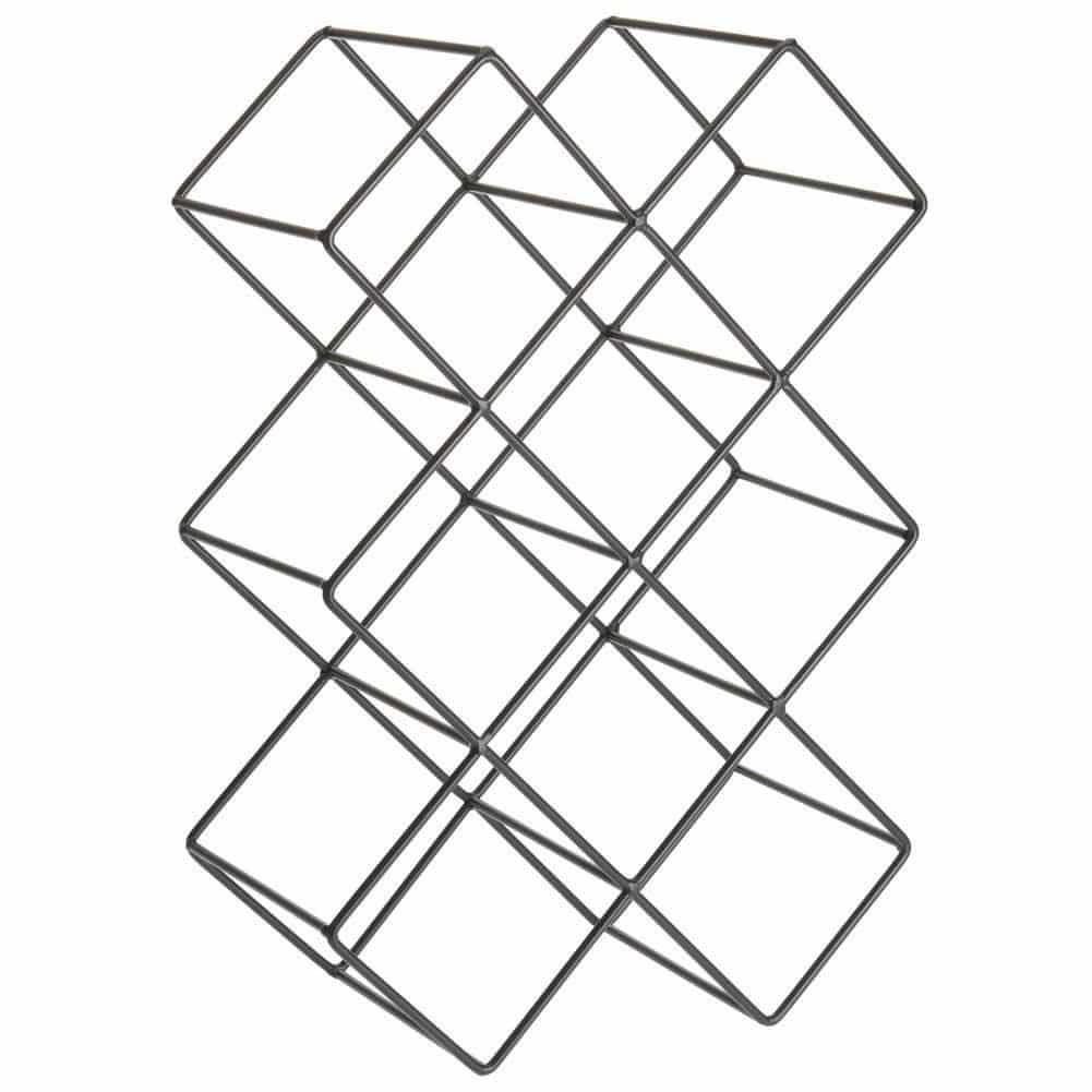 4Goodz Wijnrek Cube 8 - zwart industrieel wijnrek voor 8 flessen