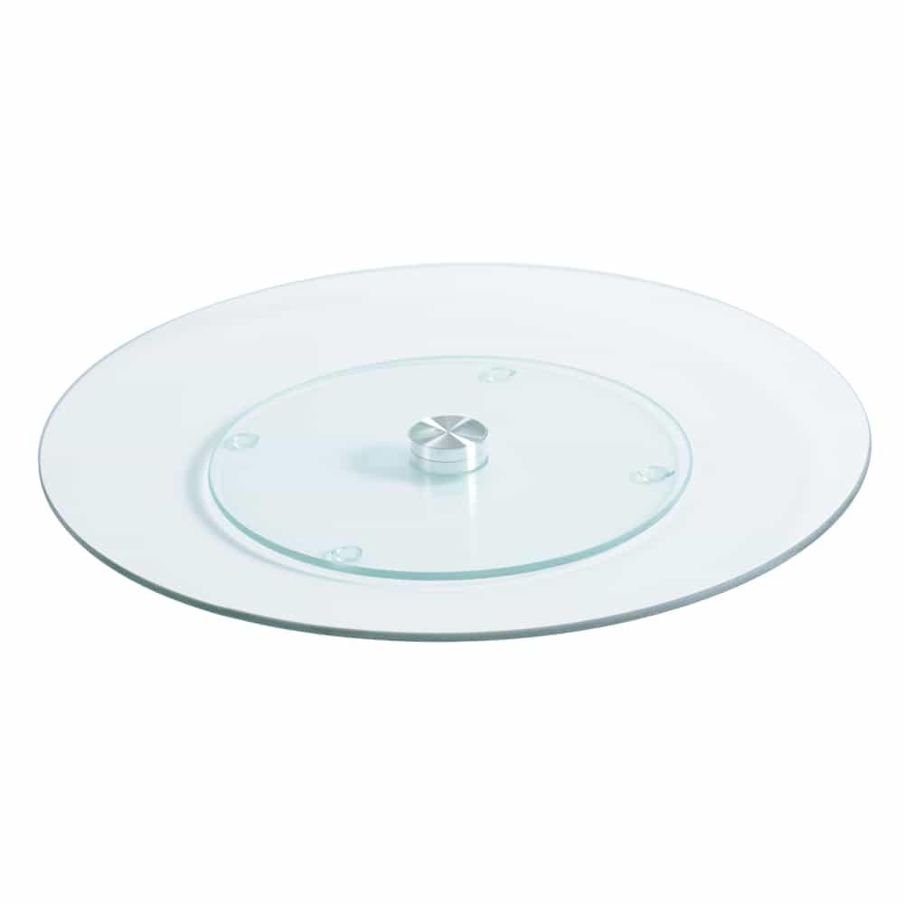 4Goodz Draaibaar serveerplateau van gehard glas - 32 cm doorsnede