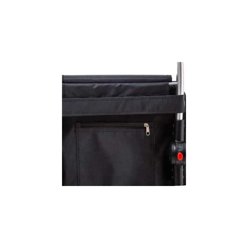 4goodz Boodschappentrolley alu inklapbaar 51 liter - zwart