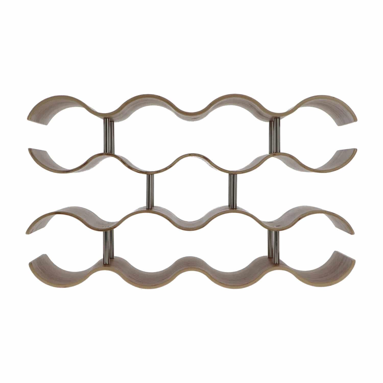 4cookz® Wijnrek Wilg Design voor 14 flessen - 15x42x24,5 cm