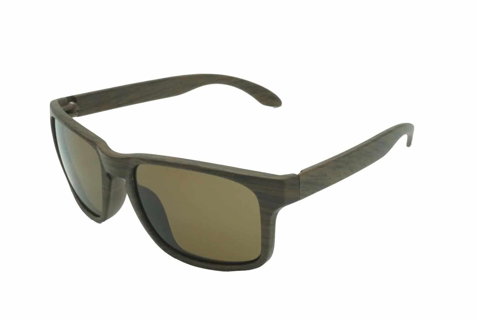 4Goodz Barcelona brown - houtlook wayfarer zonnebril - Bruin - Uv400