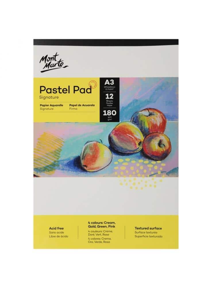 Mont Marte® A3 pastel papier 4 kleuren 180 grams - 12 vellen