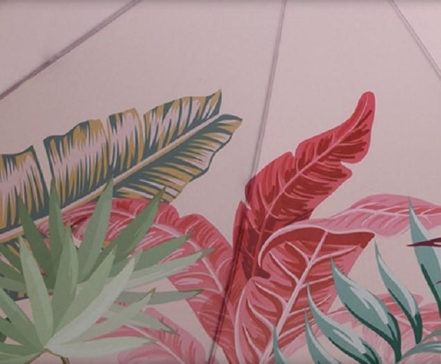 4gardenz Tropical strandparasol met knikarm 200 cm - Roze
