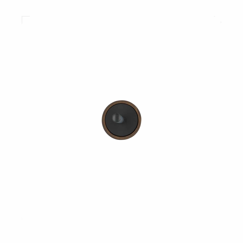 4goodz Polystone toiletborstelset met Wengehout effect - Bruin