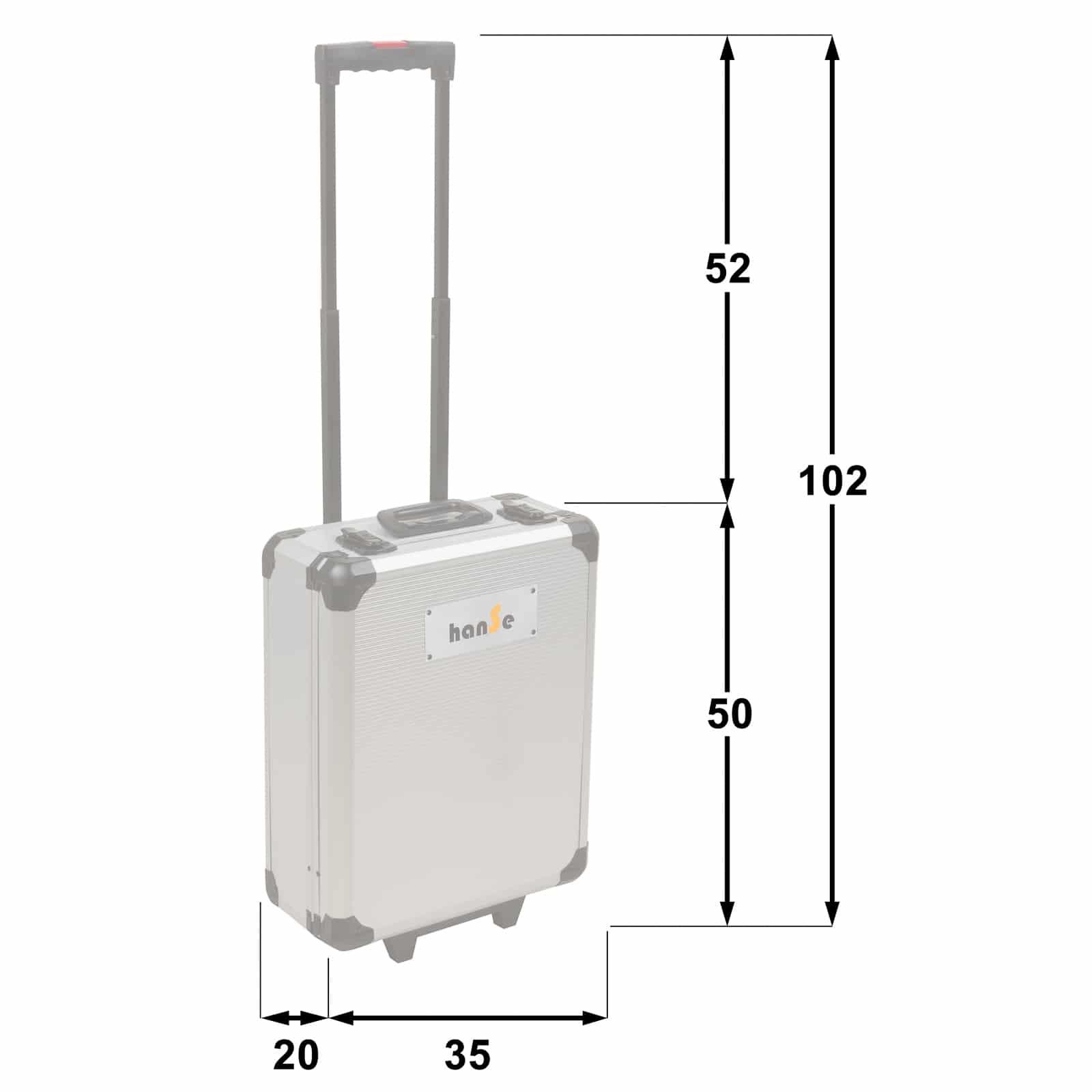Hanse Werkzeuge® 1050-delige Gereedschapskoffer gevuld - Antraciet