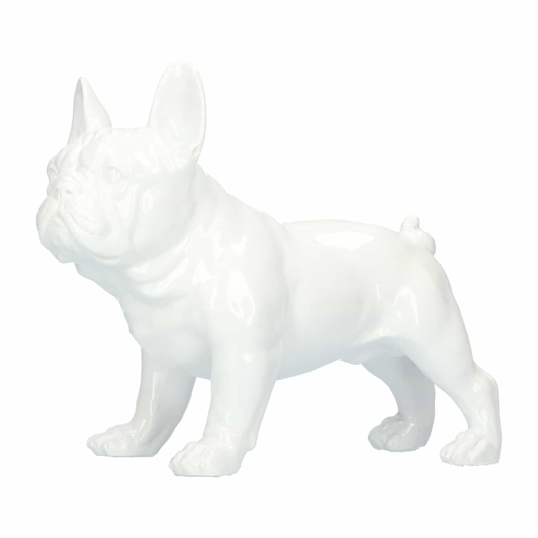 4Goodz Bulldog beeld polyresin 26,5x13,5x22 cm - wit