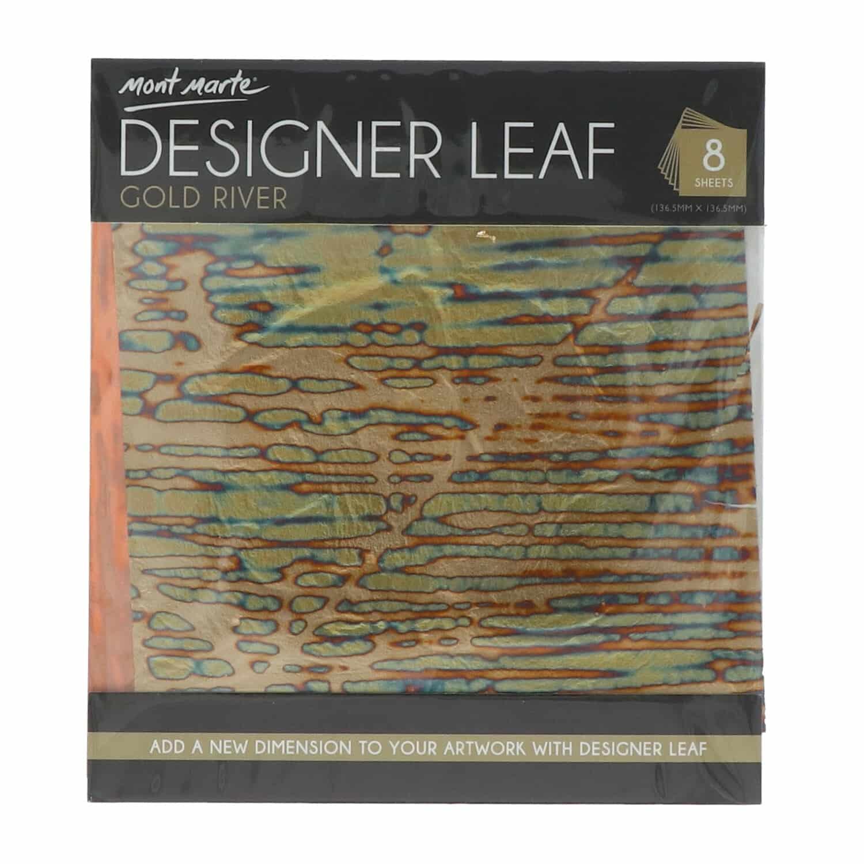 Mont Marte® 8 vellen imitatie goud rivier papier 14x14cm - decoupage papier