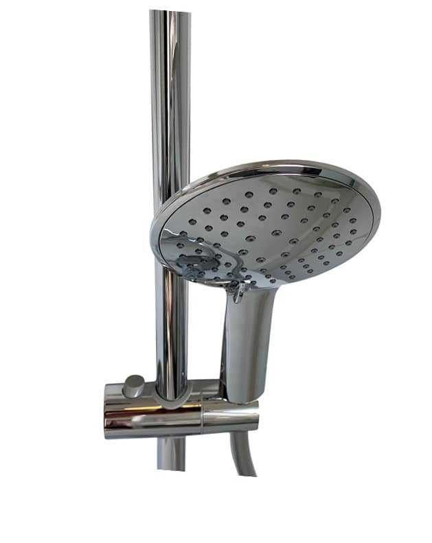 4bathroomz Flat Design douche glijstangset - 3 standen douche - Chroom