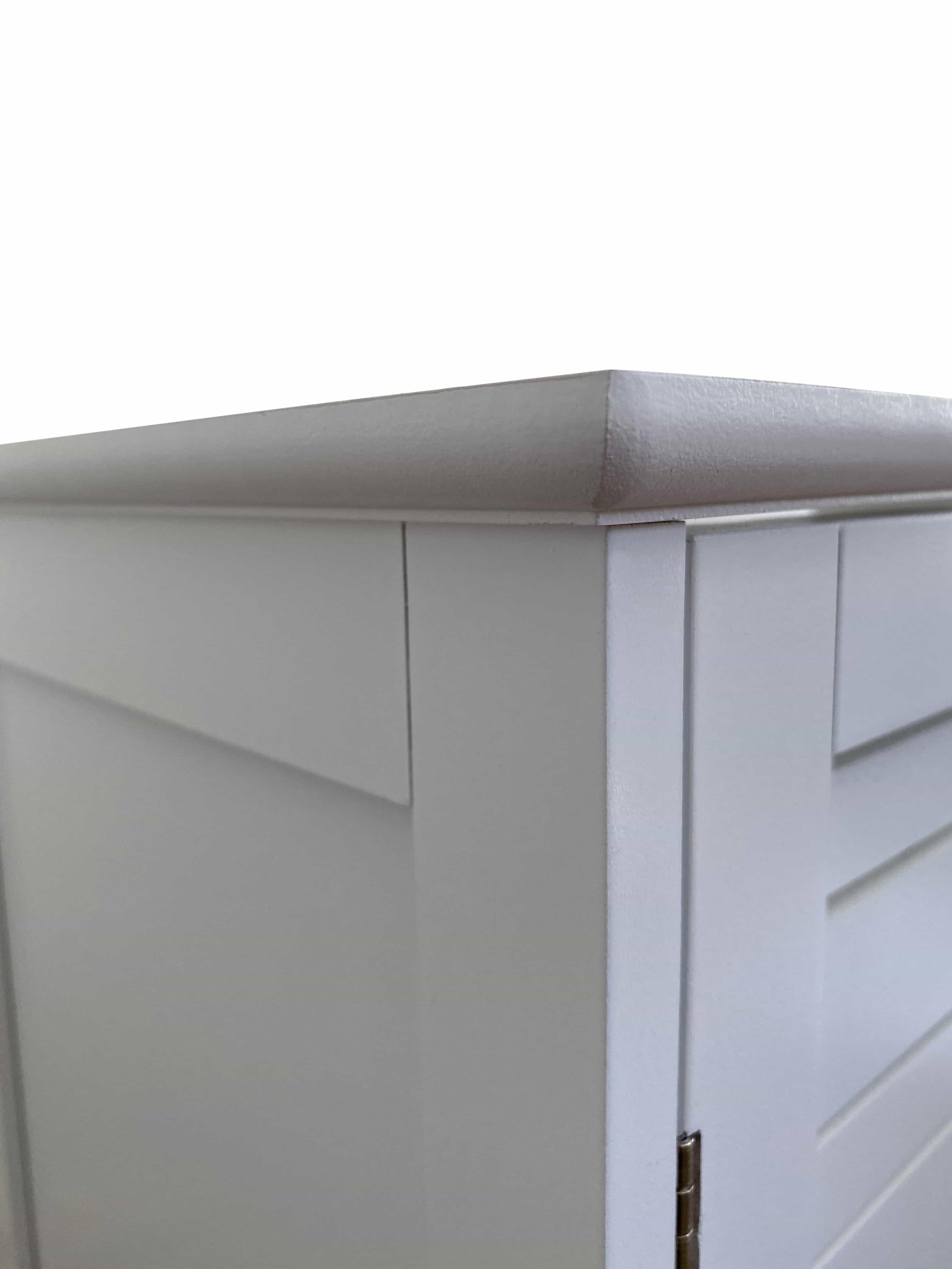 MDF wastafelonderkast Miami met 2 draaideuren en 2 planken - Wit