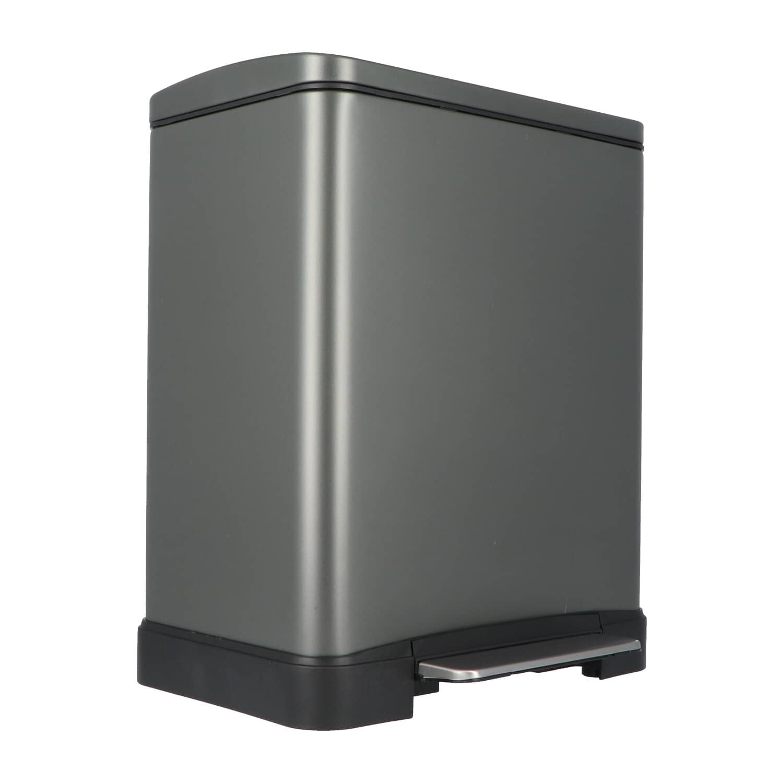 4cookz® Utah pedaal prullenbak 20L mat grijs - ultra soft-close