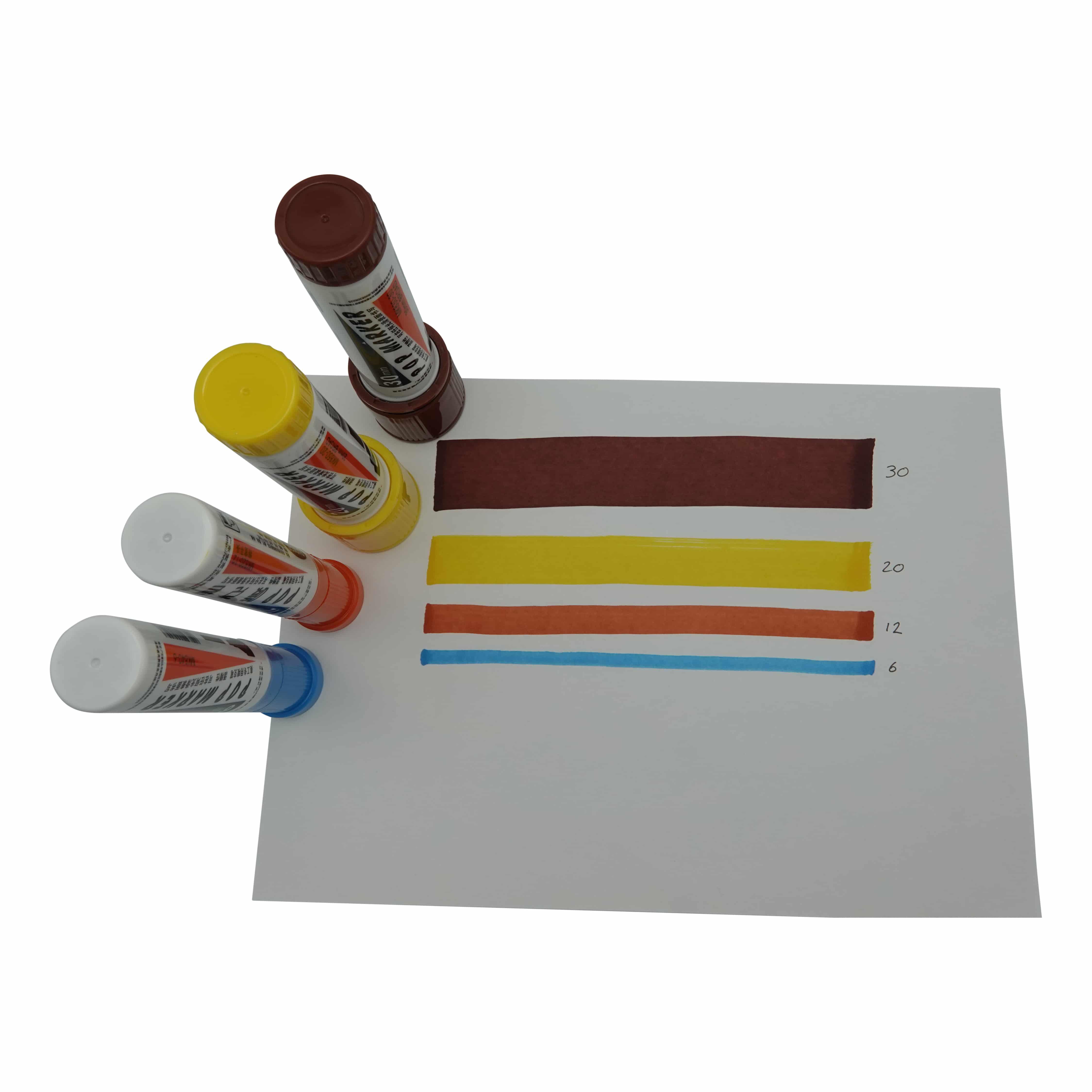 4artz® permanent markers kleuren 12 mm - brede stift op alcohol basis