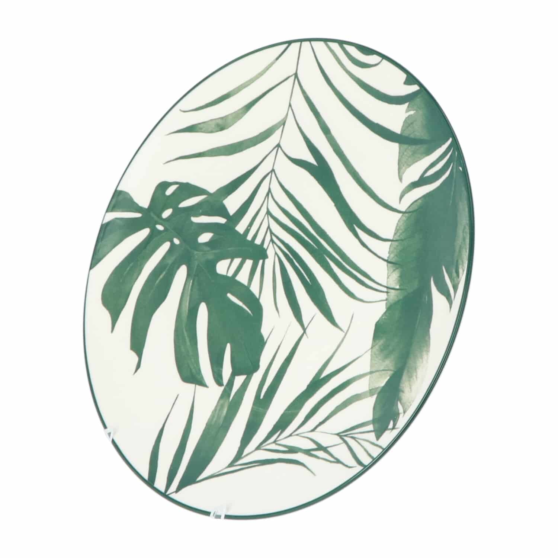 4goodz porseleinen servies 6 persoons 18 delig - Palm Groen
