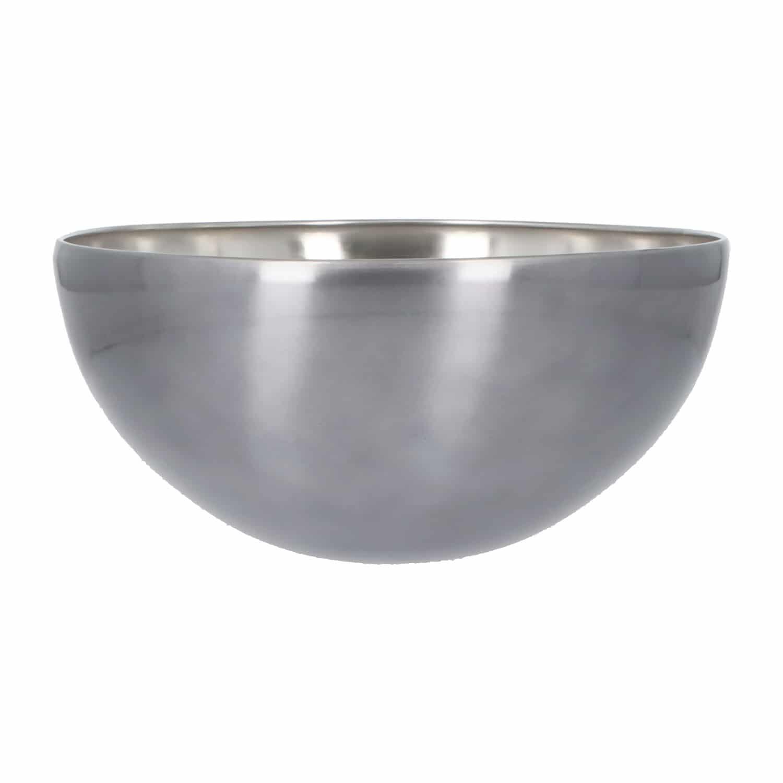4goodz RVS saladeschaal 29 cm doorsnede 13,5 cm hoogte - Zilver/Grijs