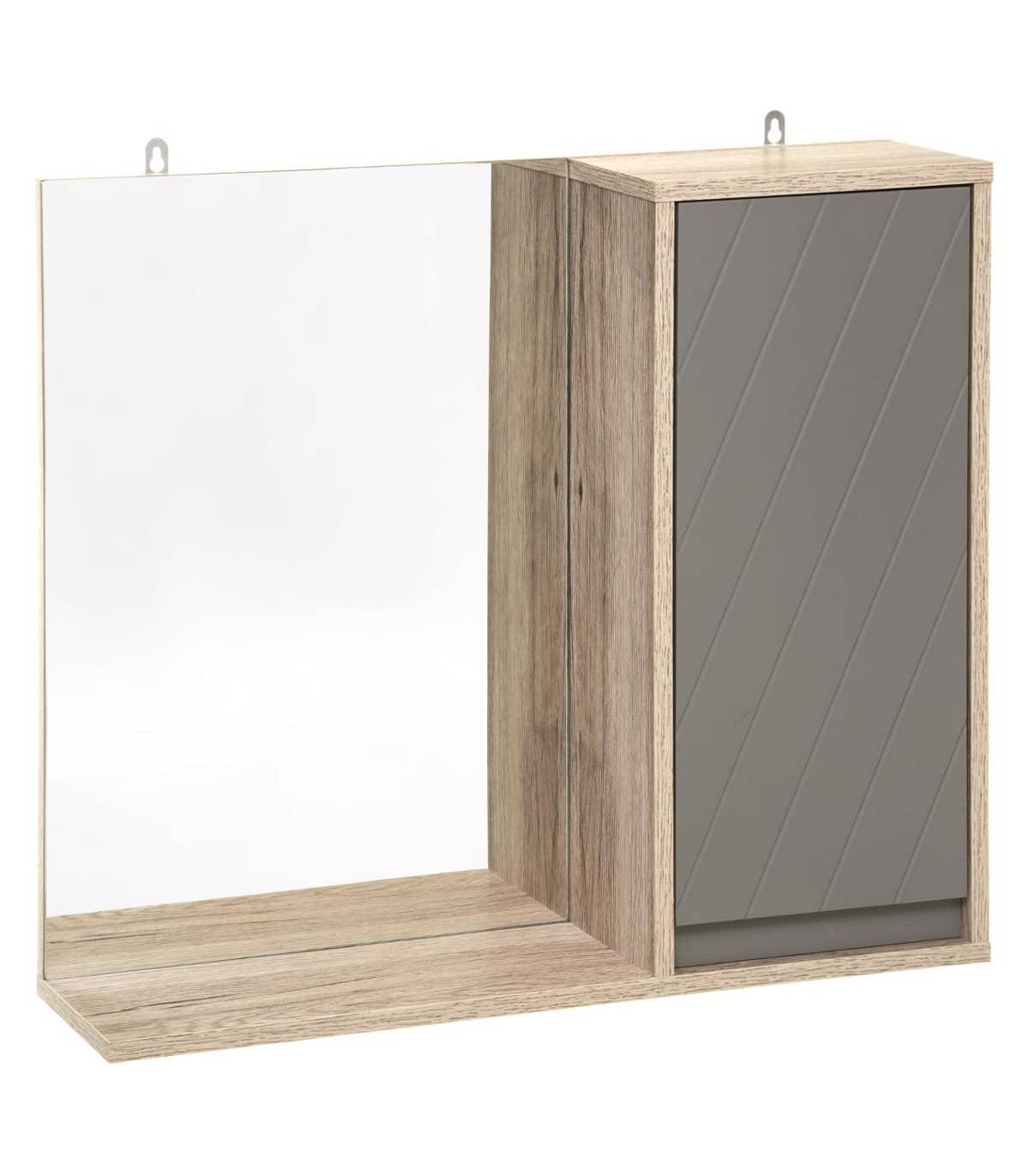 4goodz MDF Spiegelkastje Elda 57x14,5x49 cm - Grijs