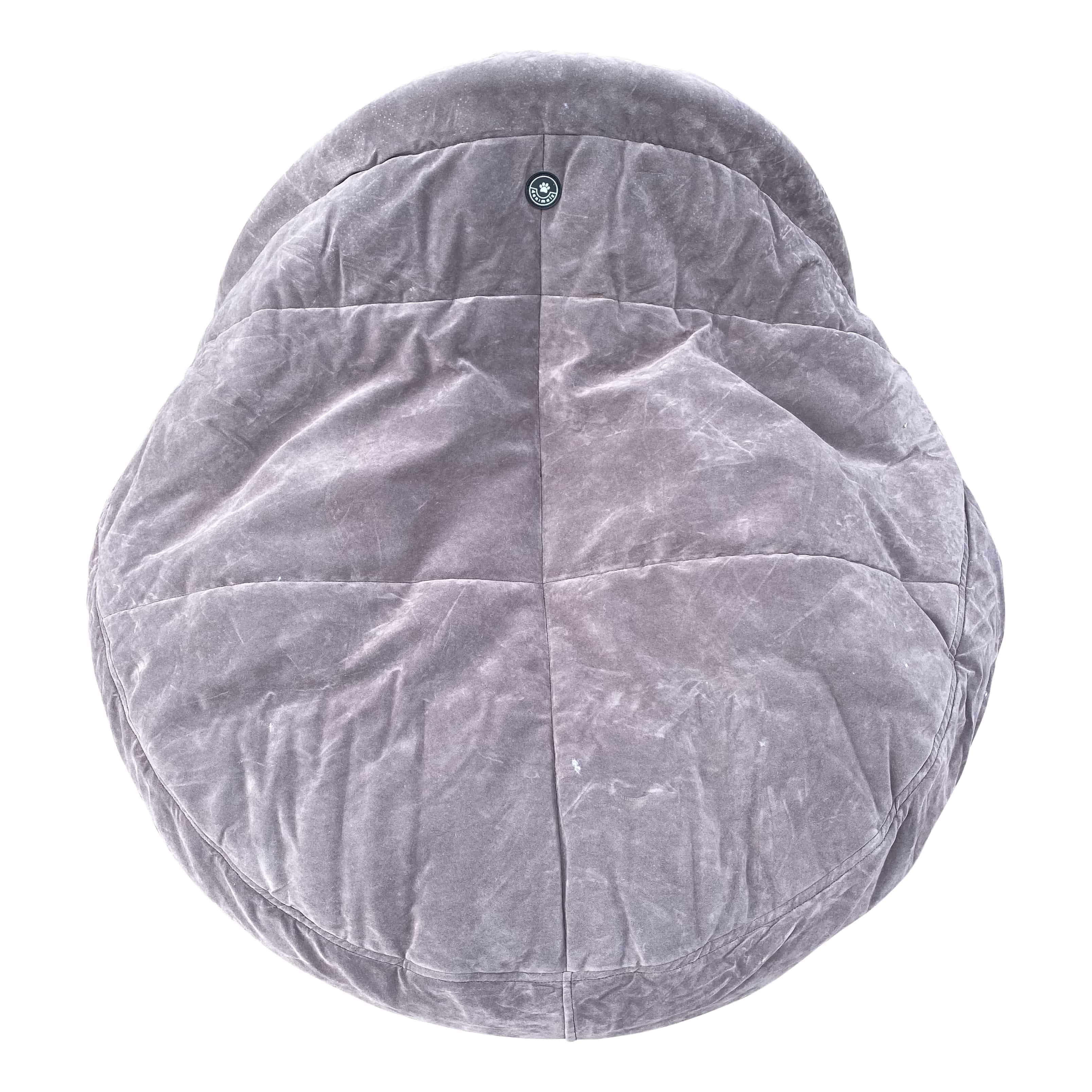 4animalz warme Snuggle mand L - 89x89x15 cm - Taupekleurig