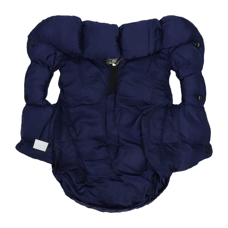 4Goodz Donsjas winterjas bodywarmer voor honden 40 cm - Blauw
