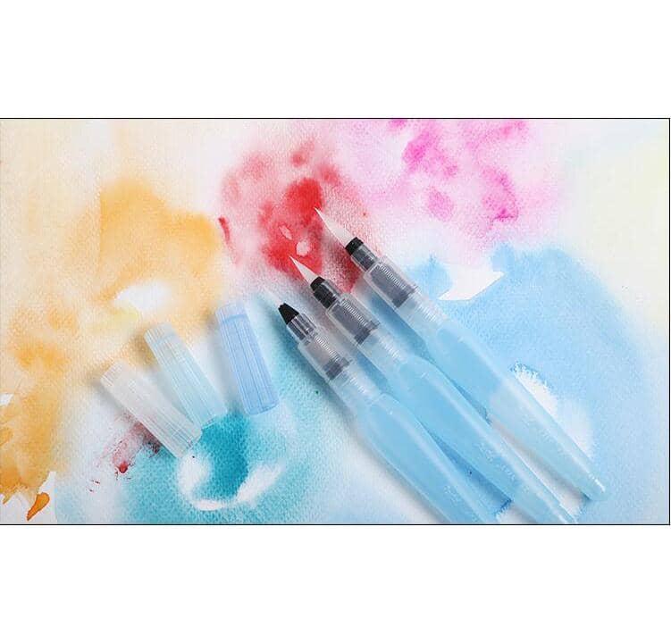 4artz® set van 3 verschillende waterbrush penselen - waterbrush pen