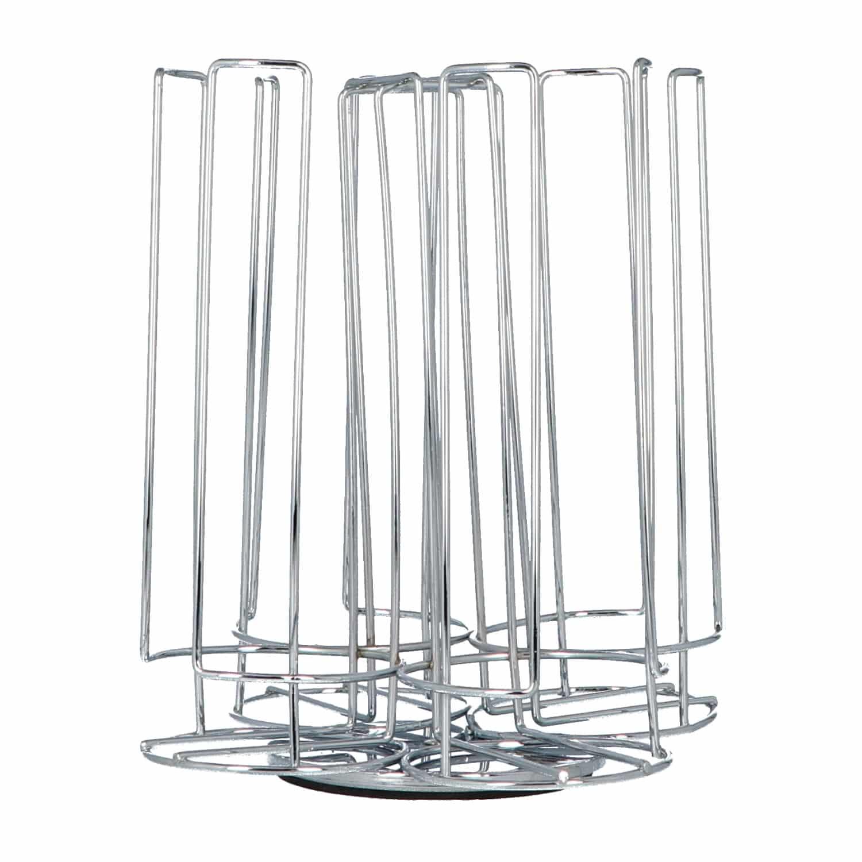 4goodz Capsulehouder Tassimo cups 52st Draaibaar- 20,5x23 cm - Zilver