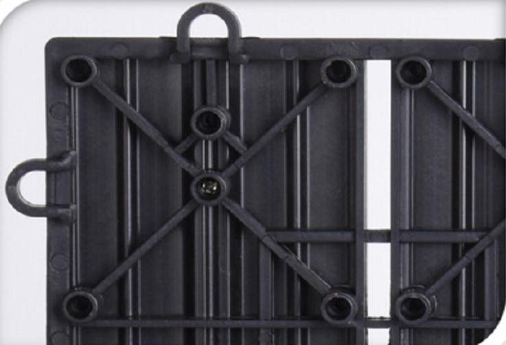 4Goodz Composiet Terrastegels koppelbaar 30x30 cm - 6 stuks - Grijs
