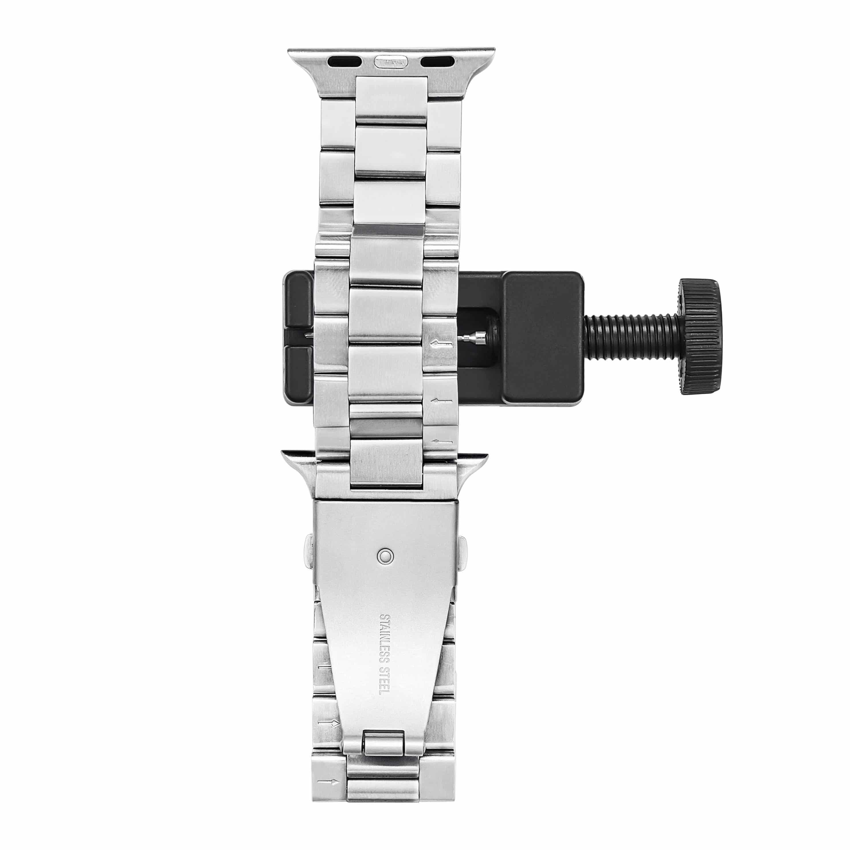 4mobilez® Iwatch bandjes Milanese en Schakelband Zilver 42/44 mm - Iwatch 1/2/3/4/5