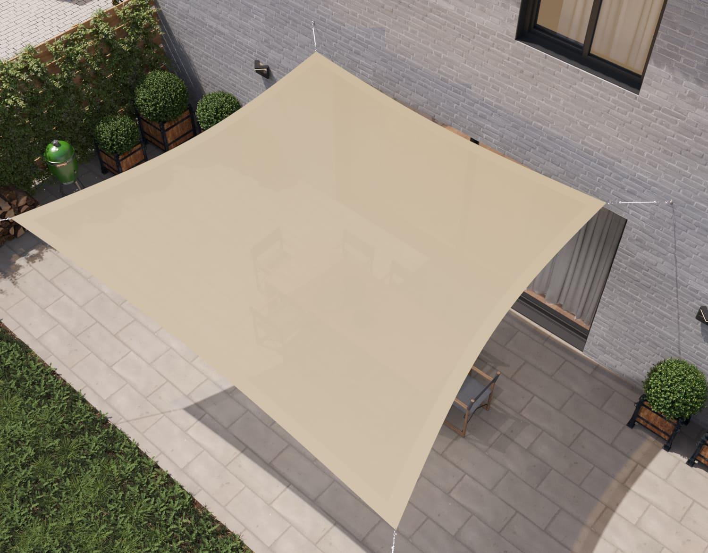 hanSe® Schaduwdoek Trapezium Waterdoorlatend 4/5x4 m - Zand