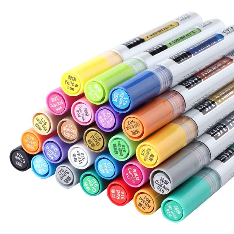 4artz® 24 delige set premium fluoriserende schminkstiften - body paint