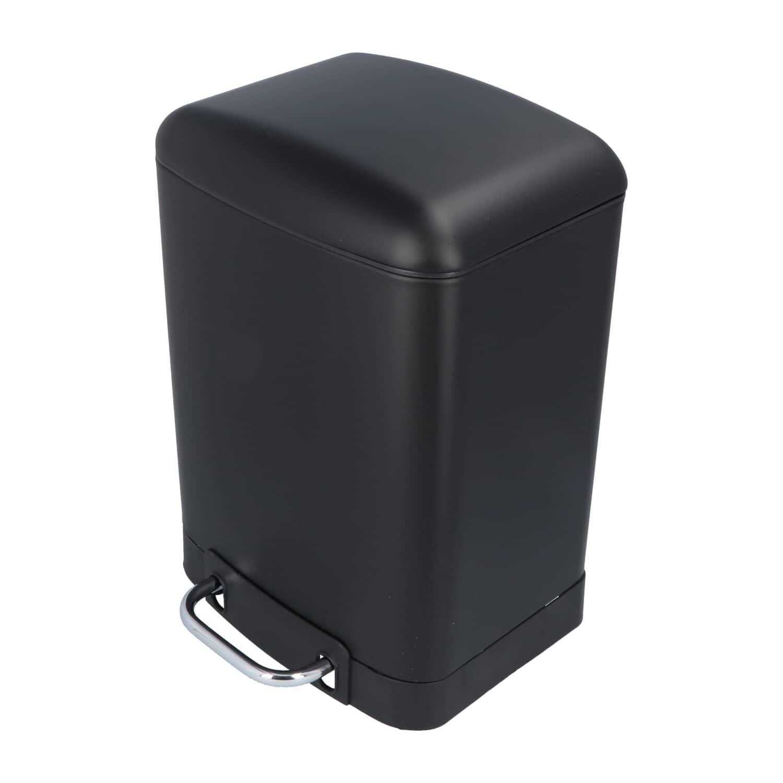 4Goodz Pedaalemmer 6 liter met uitneembare binnen emmer - Zwart