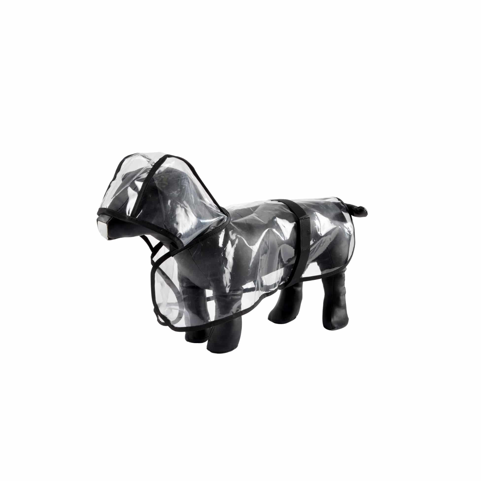 4goodz Transparante Honden Regenjas Small 30 cm - Transparant/zwart