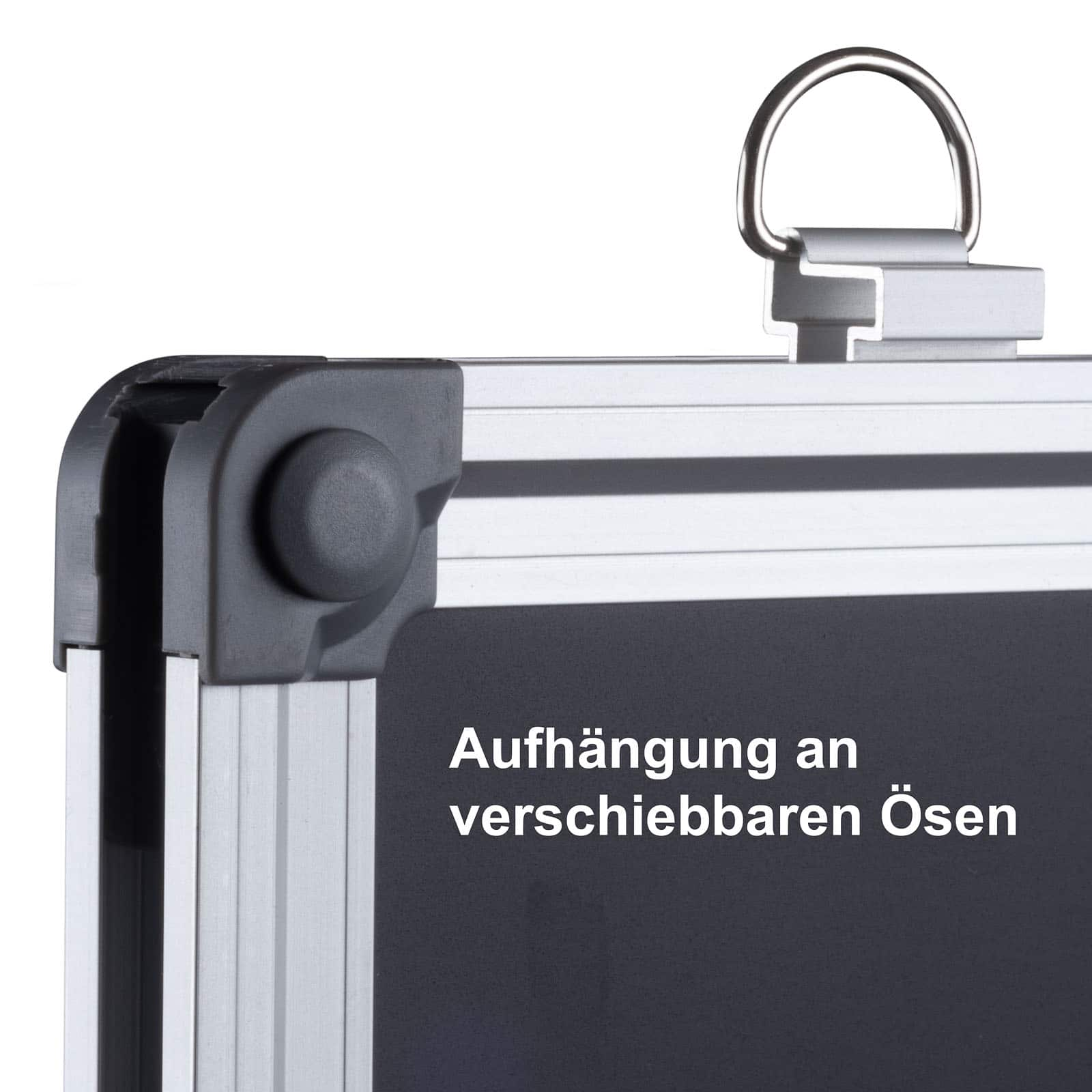 Büromi Magnetisch Zwart Krijtbord 110x80 cm Alu frame - incl. toehoren