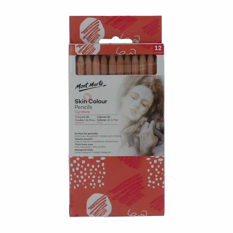 Mont Marte® Signature 12 stuks huidkleurige kleurpotloden