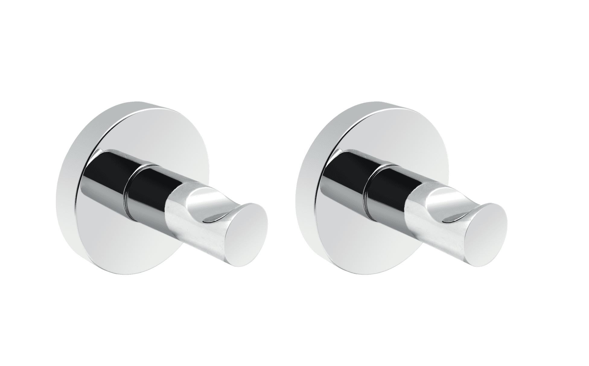 4bathroomz® Oslo set van 2 handoekhaakjes - chroom