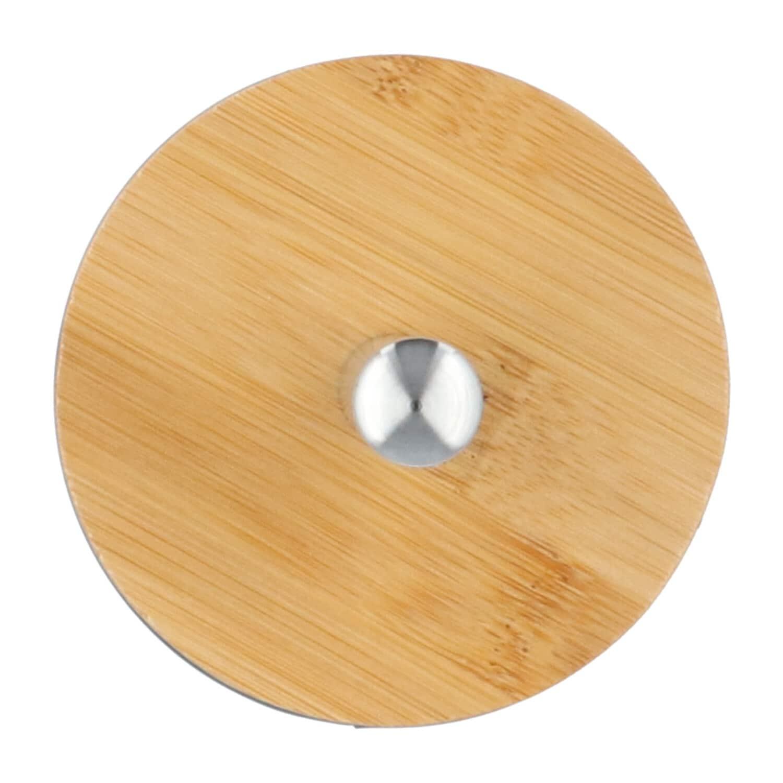 4Goodz metalen toiletborstelset met bamboe deksel - Zeegroen