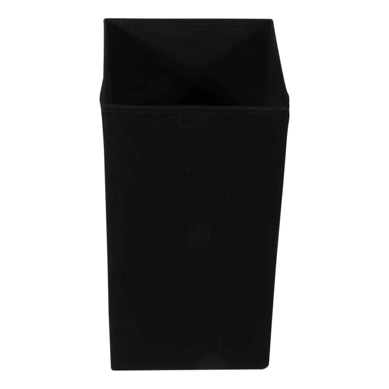 MDF verstevigde Opvouwbare wasmand 54 liter 30x30x60 cm - Zwart