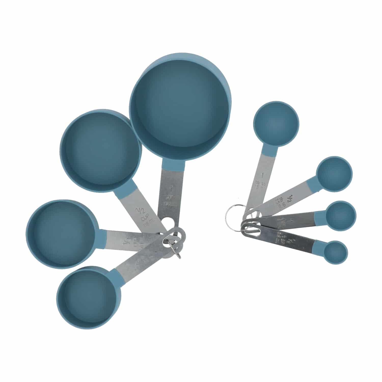 4goodz 8 delige maatcups en maatlepelset - Blauw