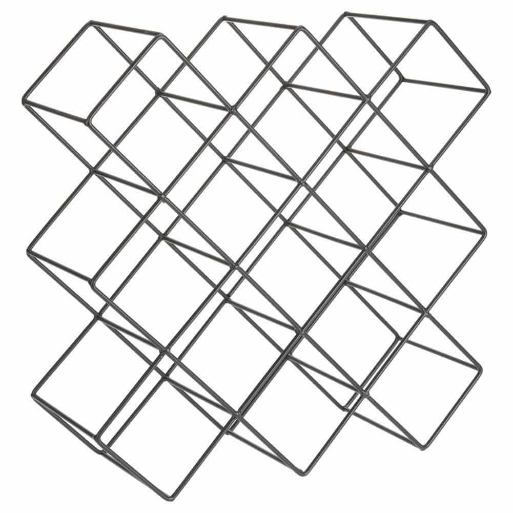 4Goodz Wijnrek Cube 13 - zwart industrieel wijnrek voor 13 flessen